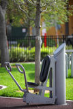 Free fitness equipment in the park Stock Photography