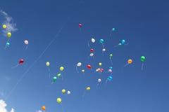 Free flight balloons Royalty Free Stock Photo