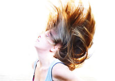 Free Flowing Hair Royalty Free Stock Photography