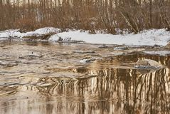 Free flowing water after winter royalty free stock photography