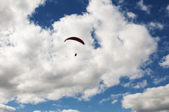 Free-Flying on Paraglide Royalty Free Stock Photography