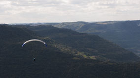 Free-Flying on Paragliding at Rio Grande do Sul, Brazil Royalty Free Stock Image