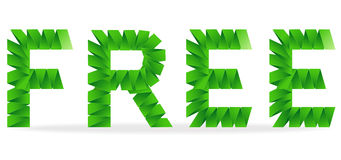 Free folded paper sign Royalty Free Stock Images