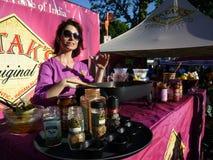 Free Food at Adams Morgan Day stock photo