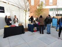 Free Food at the Hanukkah Celebration Royalty Free Stock Image