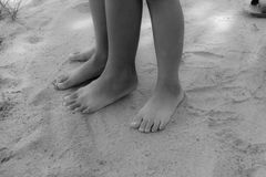 Free foot on ground Stock Photography
