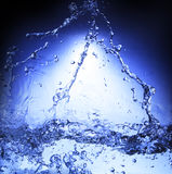 Free form of blue splashing water use for nature background ,bac Stock Photos