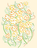 Free-Form Flowers. A vector illustration of a hand-drawn floral bouquet Royalty Free Stock Images