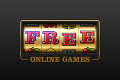 Free_Free Online Games slot machine. Free Online Games, slot machine games banner, gambling casino games Stock Images