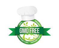 Free genetically modifies plants sign. Illustration design stock illustration