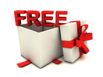 Free gift with bow Stock Photo