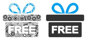 Free Gift Collage of Repair Tools royalty free illustration