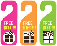Free Gift Label Royalty Free Stock Images