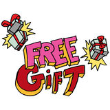 Free gift message Stock Photography