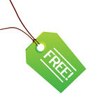 Free green clothing label. Illustration of hard paper label for clothing and accessories Stock Photography