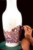 Free hand. The beautiful vase designed by designer Stock Image
