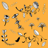 Free hand drawing flower vector Stock Images