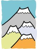 Free hand drawn mountain Stock Image