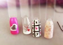 Free hand nail art designs Stock Photography