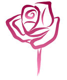 Free Hand Sketch of Rose Vector Stock Image