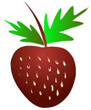 Free Hand Sketch of Strawberry Vector Royalty Free Stock Images