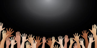 Free hands up vector background Stock Image