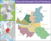 Free and Hanseatic City of Hamburg Stock Images