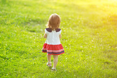 Free happy little girl Royalty Free Stock Photography
