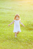 Free happy little girl Stock Images