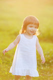 Free happy little girl Royalty Free Stock Images