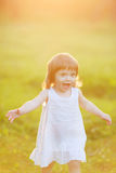 Free happy little girl Stock Photography