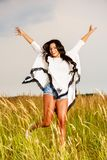 Free Happy Woman Enjoying Nature and Freedom. Beauty Girl Outdoo. R Stock Photos
