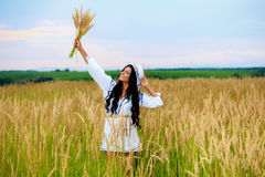Free Happy Woman Enjoying Nature and Freedom. Beauty Girl Outdoo. R Stock Images
