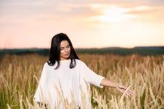 Free Happy Woman Enjoying Nature and Freedom. Beauty Girl Outdoo Royalty Free Stock Photo
