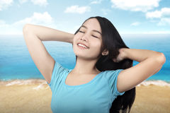 Free Happy Woman Enjoying Nature Royalty Free Stock Image