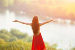 Free Happy Woman Enjoying Nature Stock Photography