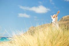 Free Happy Woman Enjoying Sun on Vacations. Royalty Free Stock Photo