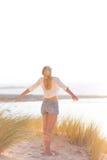 Free Happy Woman Enjoying Sun on Vacations. Royalty Free Stock Photography