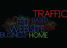 Free Home Based Business Website Traffic Text Background Word Cloud Concept vector illustration