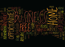 Free Home Business Opportunities Text Background  Word Cloud Concept Royalty Free Stock Photography