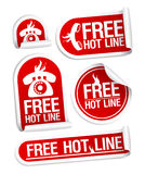 Free Hot Line stickers. Royalty Free Stock Images