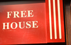 Free house: an unusual sign. Royalty Free Stock Photo