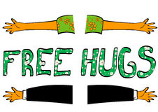 Free hugs Royalty Free Stock Photography