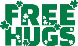 Free hugs with clover design. Vector Stock Photography
