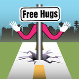 Free hugs Stock Photos