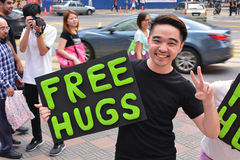 Free hugs initiative Stock Photo