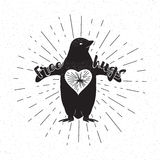 Free hugs penguin design element Stock Photography
