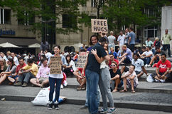 Free hugs people royalty free stock images