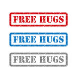 Free hugs set rubber stamp isolated on background Royalty Free Stock Photos