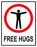Free Hugs Traffic Sign Royalty Free Stock Photography